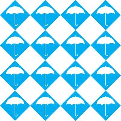 Наклейка Белый зонтик