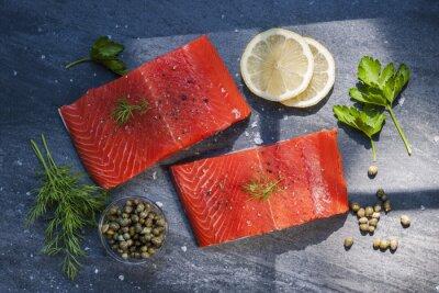 Наклейка Дикие стейки лосося