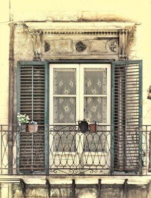 Наклейка Окно в Палермо