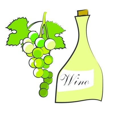 Наклейка Вино
