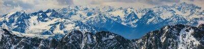 Наклейка Зимний пейзаж панорама горы Альп