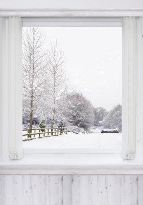 Наклейка зимнее окно