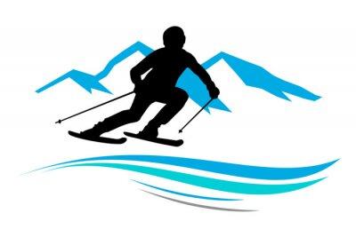 Наклейка Зимние виды спорта - 13