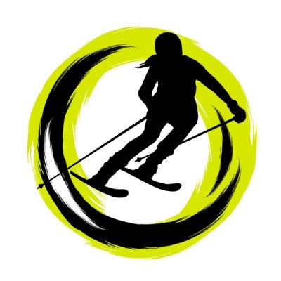 Наклейка Зимние виды спорта - 23