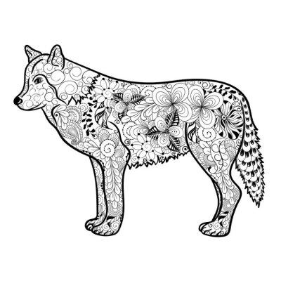 Наклейка Wolf болван