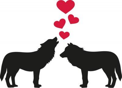 Наклейка Волки в любви