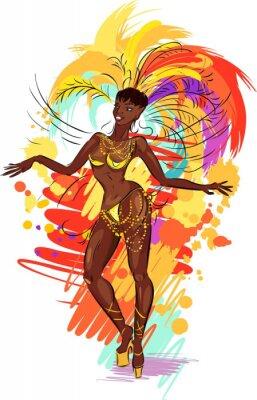 Наклейка Woman samba dancer