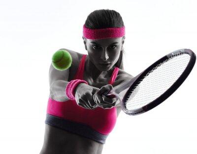 Наклейка теннисисткой портрет силуэт