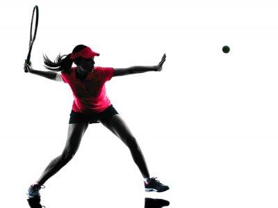 Наклейка теннисисткой печаль силуэт