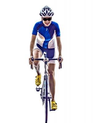 Наклейка woman triathlon ironman athlete cyclist cycling