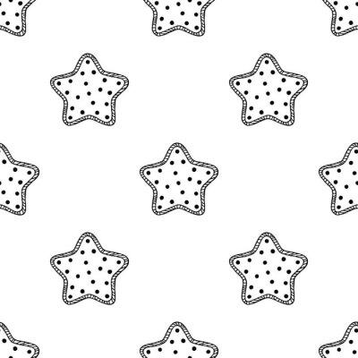 Наклейка Деревянные звезды узор 2