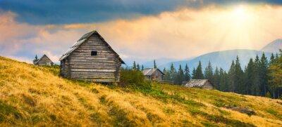 Наклейка деревянные украинские дома