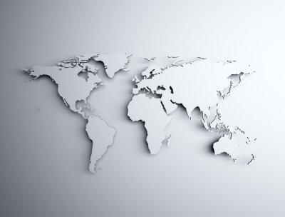 Наклейка Карта мира 3D