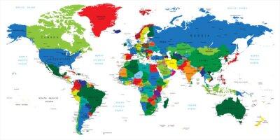 Наклейка Страны-карте мира