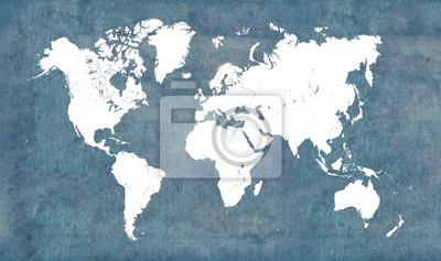 Наклейка Карта мира, марочные