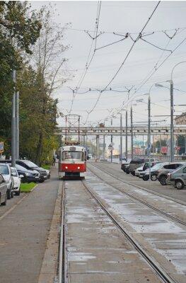 Наклейка Трамвай в начале Волоколамского шоссе (Москва)