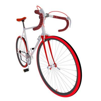 Наклейка Велосипед на белом фоне