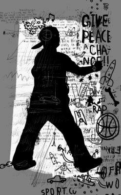 Наклейка Уличный художник
