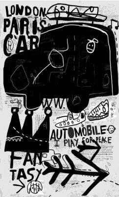 Наклейка Машина