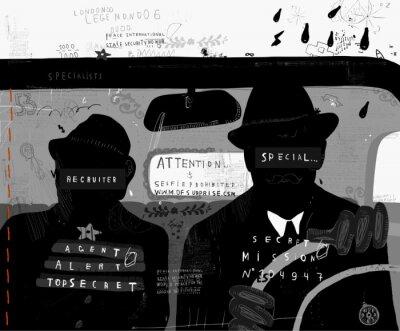 Наклейка Агенты