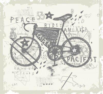 Наклейка Велосипед