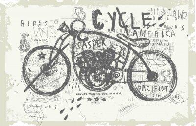 Наклейка Мотоцикл