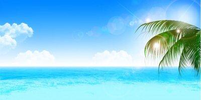Наклейка 海 夏 風景 背景