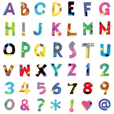 Наклейка アルファベット、数字