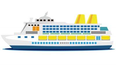 Наклейка 大型 客船