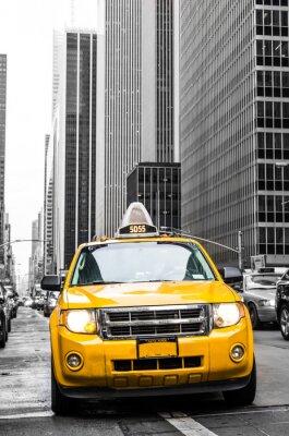 Наклейка желтые такси Нью-Йорка