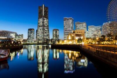 Наклейка Yokohama городской пейзаж в ночное время