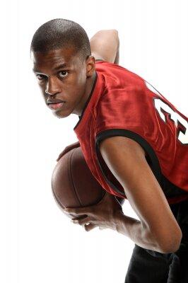 Наклейка Молодой черный баскетболист