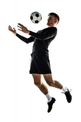 Наклейка Молодая блондинка человек играть в футбол