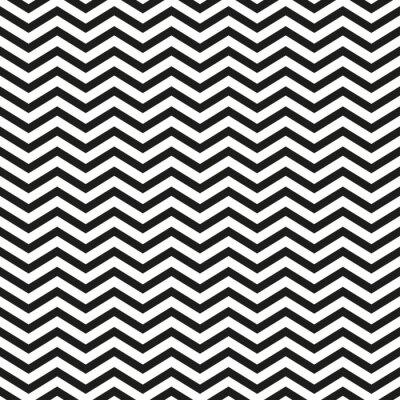 Наклейка Зигзаг узор с черными линиями стильный иллюстрации