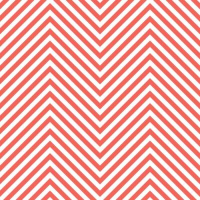 Наклейка Зигзаг красный узор. Волна фоне в векторном