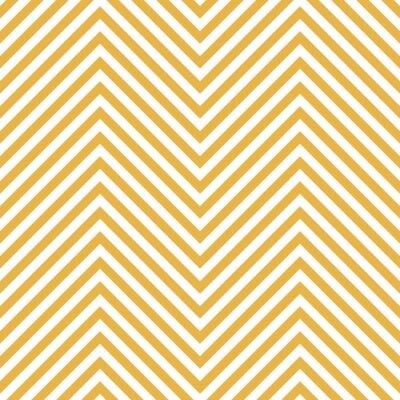 Наклейка Зигзаг Желтый шаблон. Волна фоне в векторном