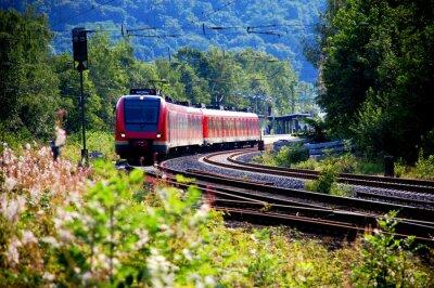 Наклейка Поезд оставив станции, выход